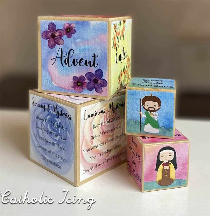 Block Crafts from the Catholic Icing Monthly Membership