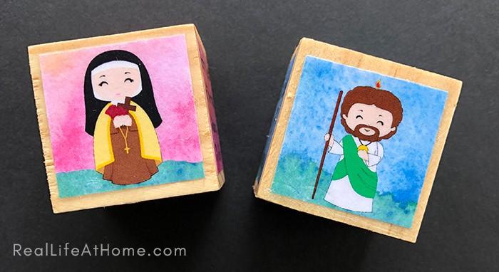 Saint Jude and Saint Therese Block Crafts