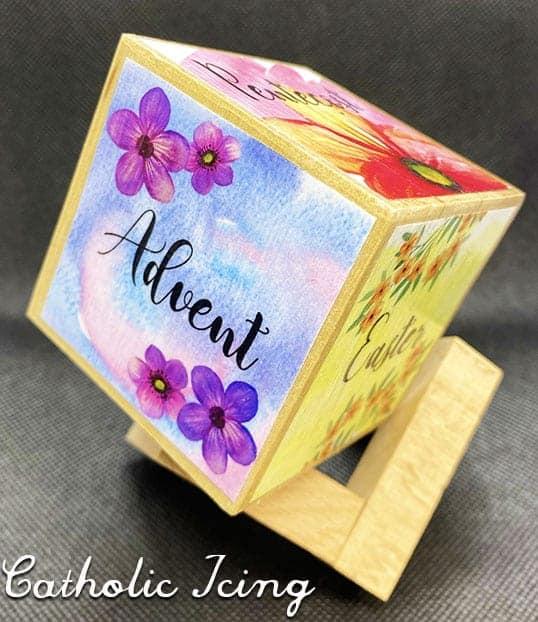 Liturgical Season Cube Craft Printable