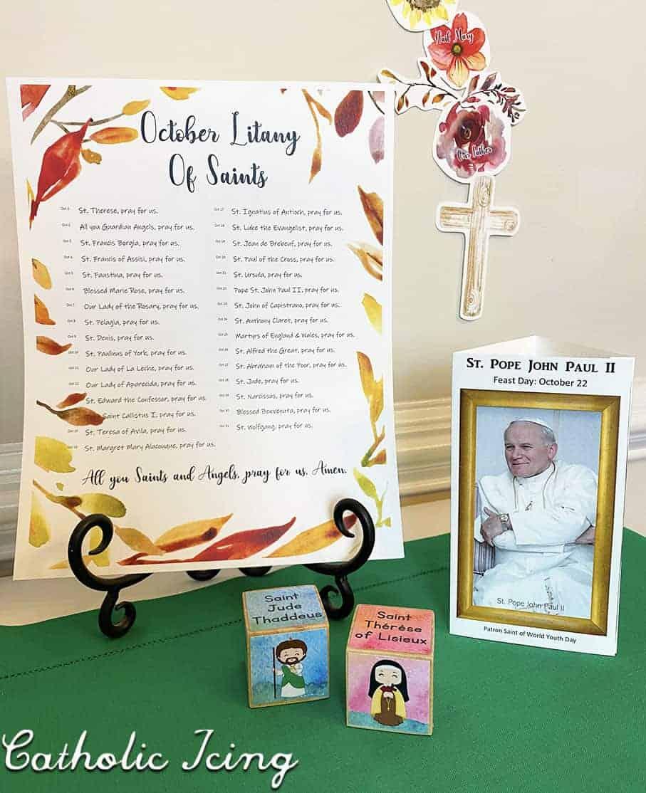 October Home Altar Printables